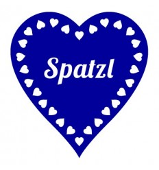 Klebetattoo Spatzl (Wiesn-Herz)