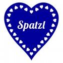 Bayrisches WC-Schild Türtattoo Spatzl