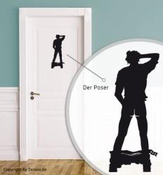 Türschild Der Poser