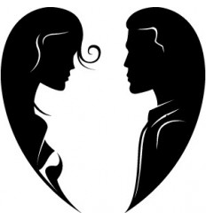 Wandtattoo Romeo und Julia