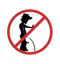 WC-Schild Keine Stehpinkler!