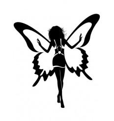 Wandtattoo Butterfly Girl